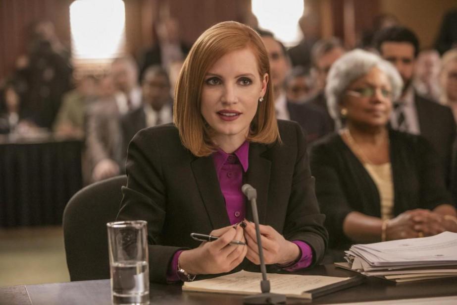 DansMiss Sloane,Jessica Chastain incarneElizabeth Sloane, lobbyisteà Washington quin'hésite... (PhotoKerry Hayes, fournie par EuropaCorp)