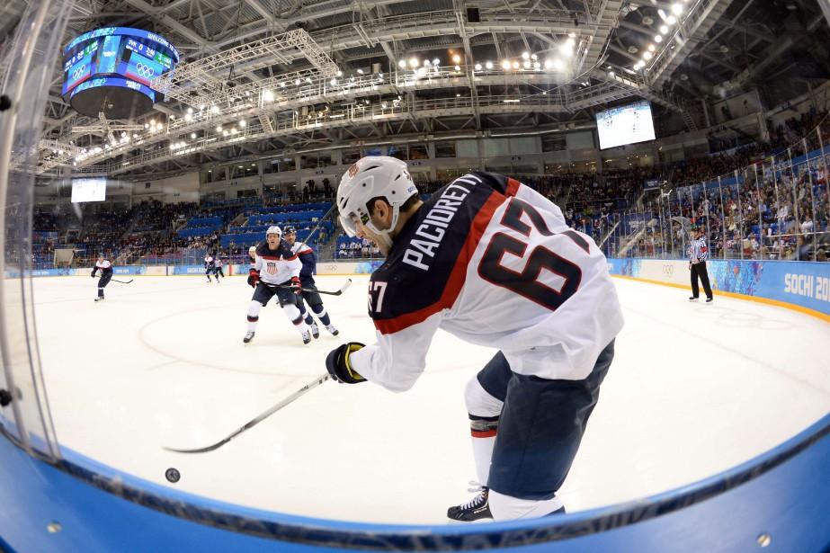 Max Pacioretty a porté les couleurs des États-Unis... (Photo Yuri Kadobnov, archives AFP)