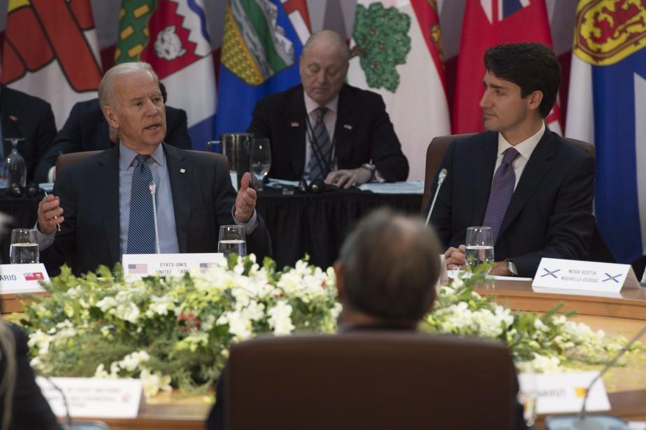 En visite à Ottawa vendredi, le vice-président des... (Photo Adrian Wyld, PC)