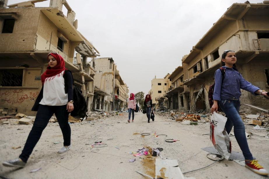 Les djihadistes du groupe Etat islamique (EI) sont... (PHOTO ARCHIVES REUTERS)