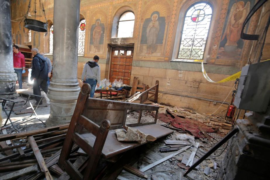 Dimanche, l'explosion, entendue dans tout le quartier, a... (Photo Amr Abdallah Dalsh, REUTERS)