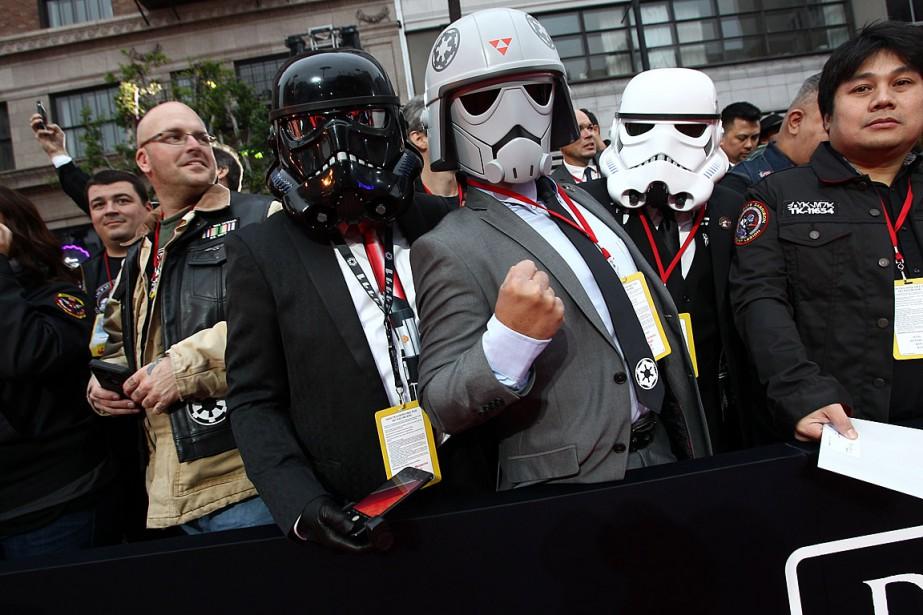 Des mordus de Star Wars s'étaient rassemblés à... (PHOTO TOMMASO BODDI, AFP)