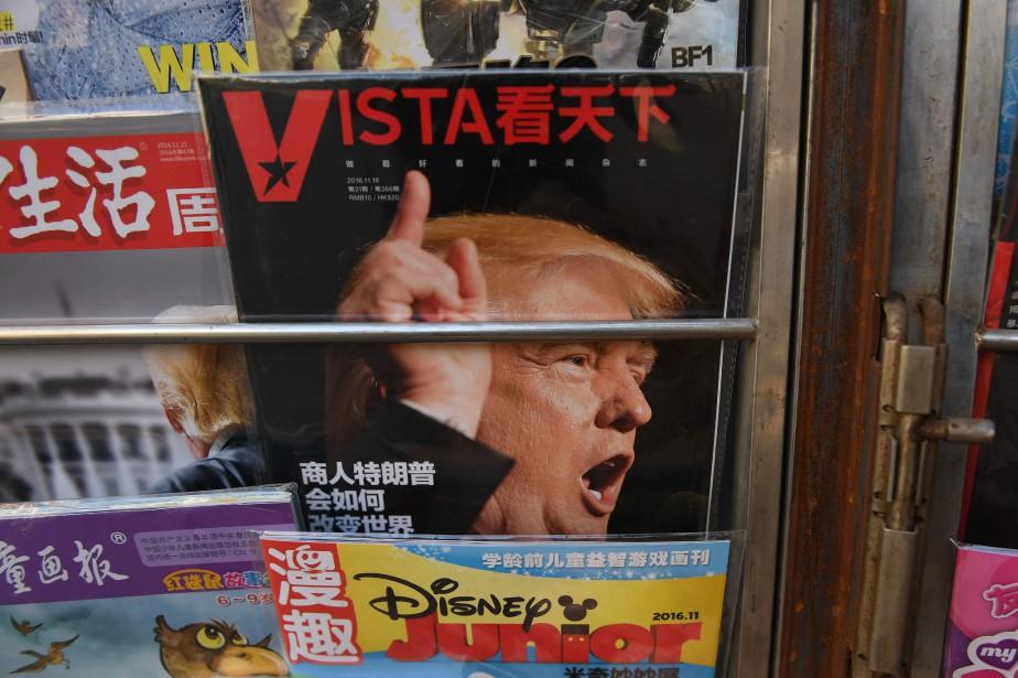 Donald Trump à la une d'un magazine chinois... (Photo AFP)
