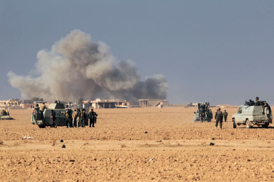 «Des frappes aériennes intenses» ont visé lundi à... (AFP)