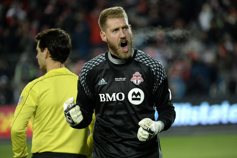 Le gardien de but du Toronto FC, Clint... (Photo Nathan Denette, PC)