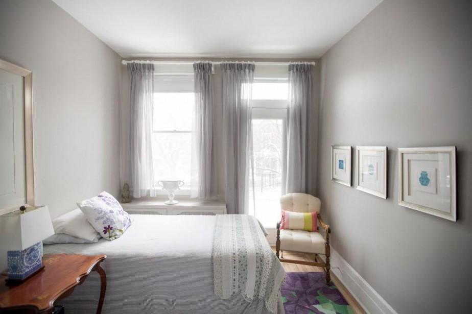 La chambre d'amis de Suzan Holton et Marcel... (PHOTO MARCO CAMPANOZZI, LA PRESSE)
