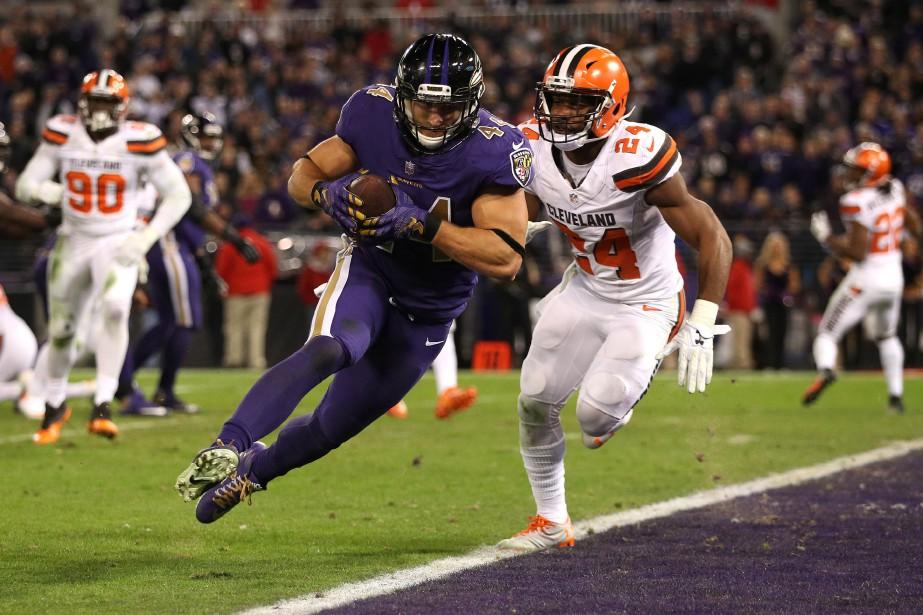 Les Ravens de Baltimore et les Browns de... (Photo Patrick Smith, archives AFP)