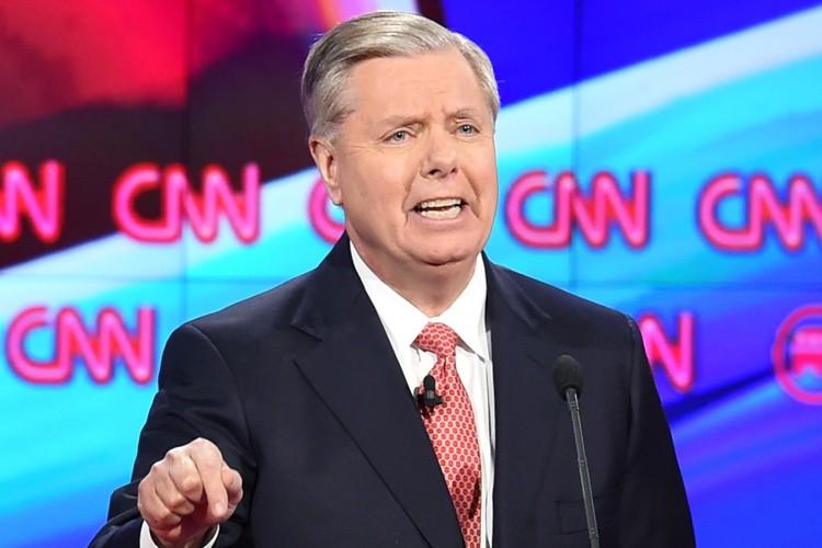 Lindsey Graham lors d'un débat républicain diffusé pr... (PHOTO AFP)
