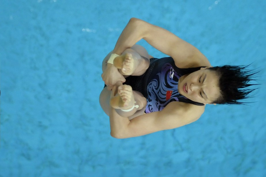 La plongeuse chinoise Wu Minxia a remporté cinq... (Photo Michael Kappeler, archives AFP)