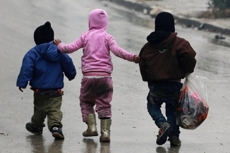 Les enfants sont parmi les principales victimes du... (photo Abdalrhman Ismail, archives REUTERS)