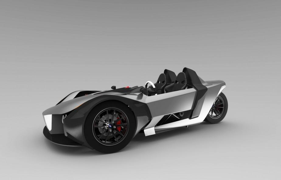 La configuration à trois roues et les deux places de l'Azkarra ne sont pas sans rappeler, évidemment, le Slingshot de Polaris, voire le T-Rex de Campagna Motors. «Pour le look, oui, ça ressemble au Sling Shot. Mais pour la performance, on est plus près du T-Rex», avance Simon Luc Bouchard. L'entrepreneur de 37 ans espère produire un premier prototype en début d'année 2017. ()
