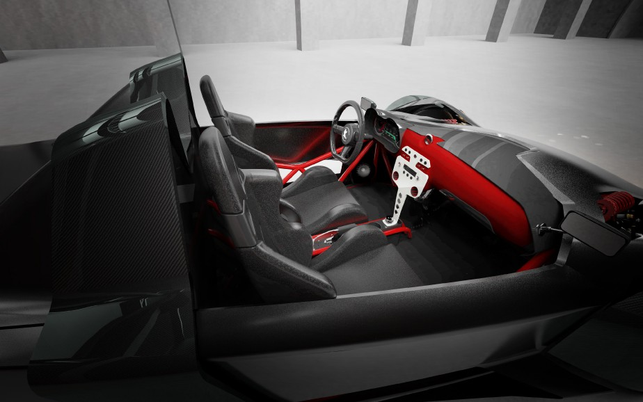 Côté performance, la version de base de l'Azkarra, mue par un moteur électrique à la roue arrière, a une puissance maximale de 75 kW pour un couple de 737 lb-pi. La version S, à transmission intégrale avec ses trois moteurs électriques, dégage 225 kW de puissance pour 1438 lb-pi de couple. Du moins, en théorie. Car comme la voiture n'existe pas encore, ce ne sont là que des simulations. Les batteries, elles, seront au lithium-ion. ()