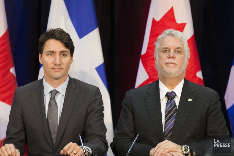 Le premier ministre du Canada, Justin Trudeau et... (PHOTO IVANOH DEMERS, LA PRESSE)
