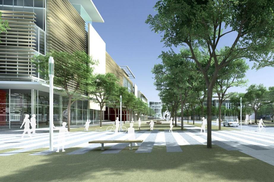 illustration du futur Campus Outremont.... (Illustration fournie par la Ville de Montréal)
