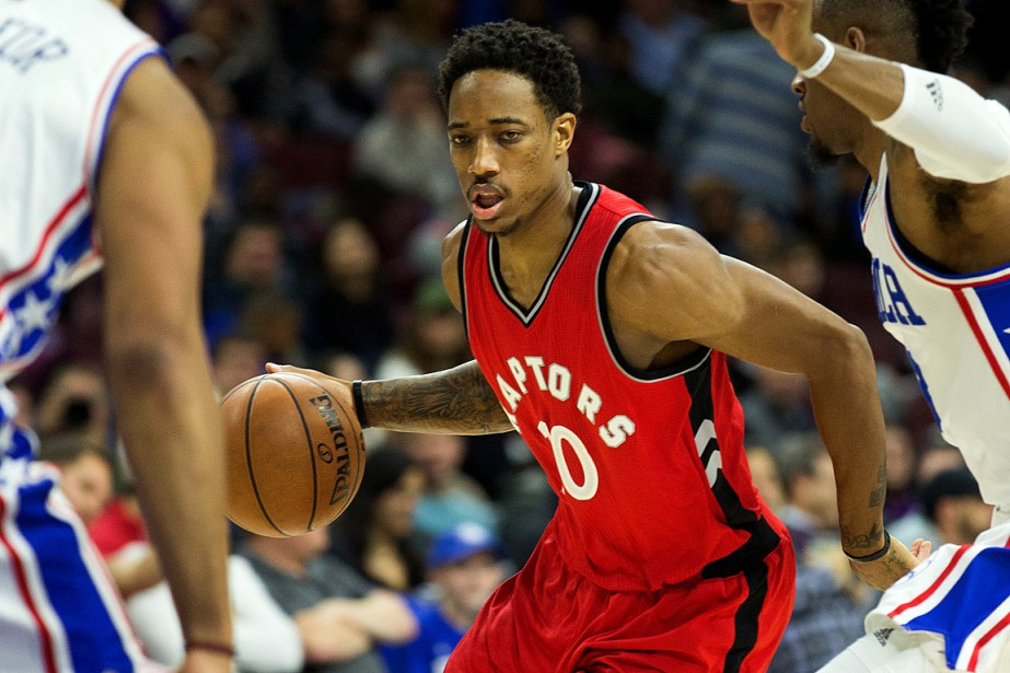 DeMar DeRozan a mené la ligue avec 32 points, en... (Photo Bill Streicher, USA Today)