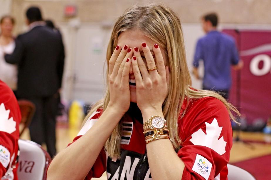 La joueuse de tennis Eugenie Bouchard etles athlètes qui ont participé aux Jeux olympiques de Rio étaient de passage à Ottawa le 2 novembre dernier. | 19 décembre 2016