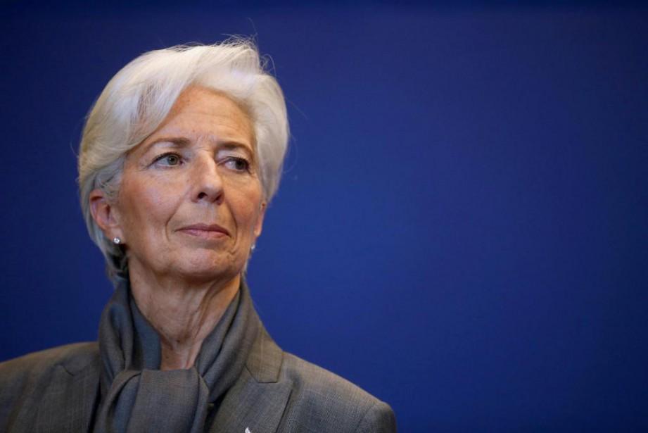 La directrice générale du FMI Christine Lagarde, qu'on... (Photo Jacky Naegelen, archives Reuters)