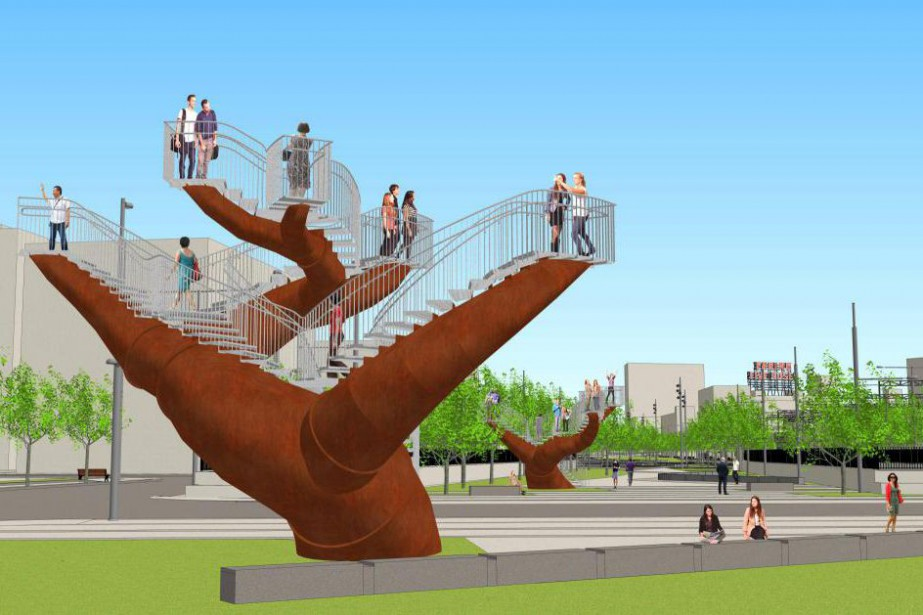 Projet Dendrites de Michel de Broin qui sera... (Photo fournie par l'artiste)