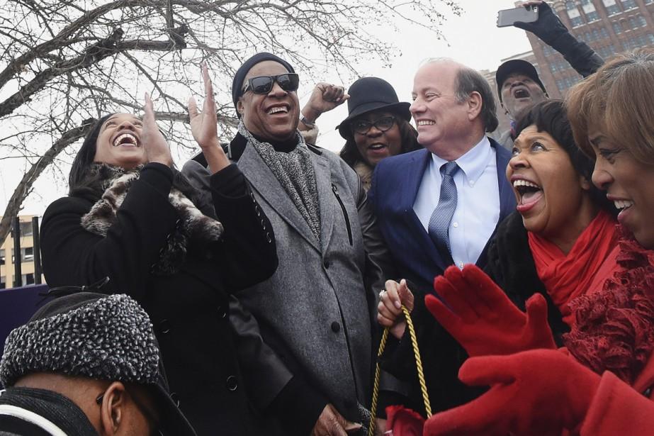 Stevie Wondera assisté à une cérémonie en son... (PHOTO AP)