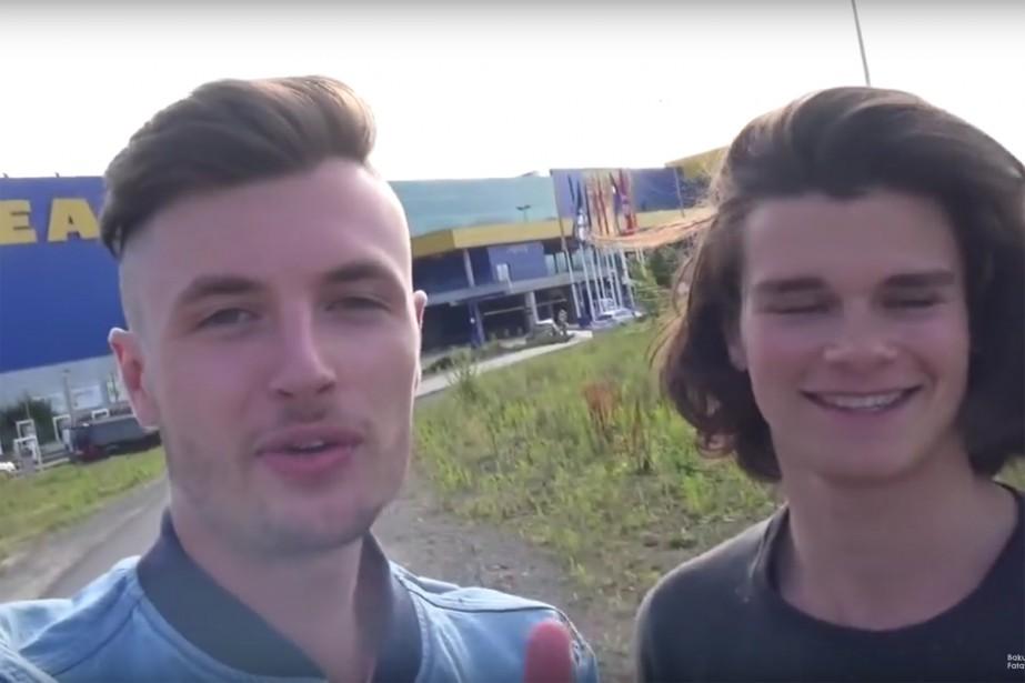 Deux étudiants belges ont filmé et diffusé sur... (CAPTURE D'ÉCRAN)
