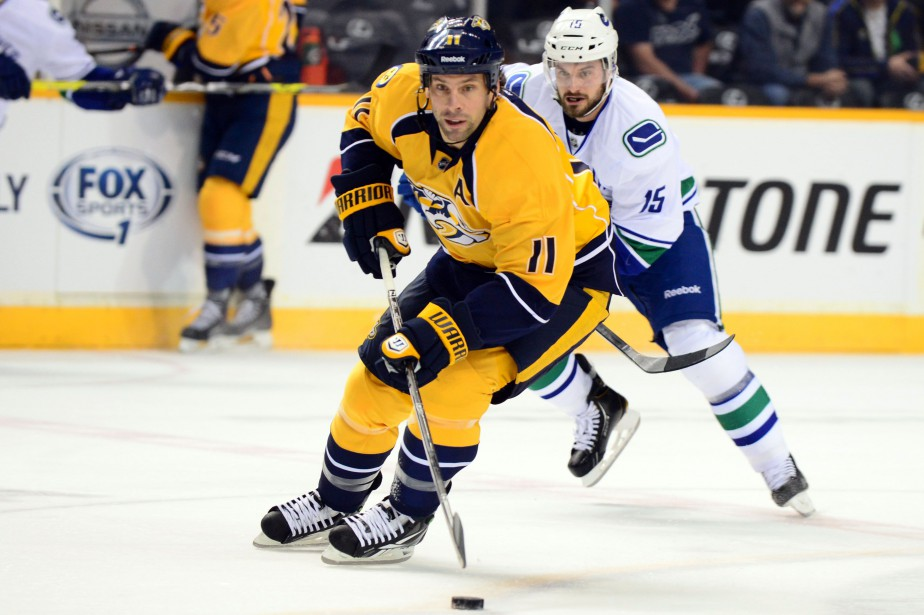 David Legwand est le meneur des Predators de Nashville pour... (PHOTO Don McPeak, USA TODAY Sports)