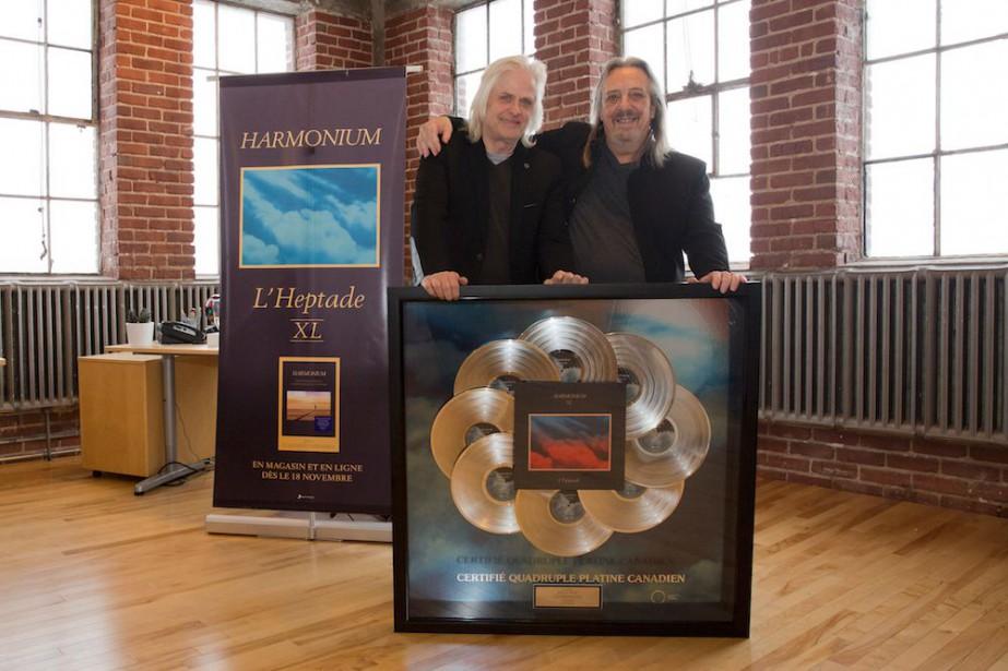 Louis Valois et Serge Fiorid'Harmonium ont reçu une... (Photo fournie par Sony Musique)