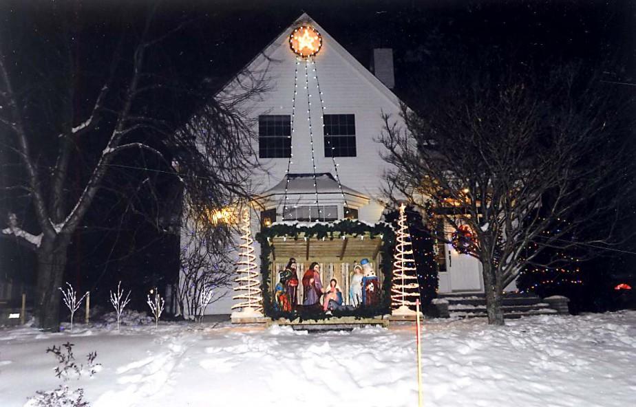 La crèche de Noël de Gaston Rinfret de Laterrière. (Gaston Rinfret)