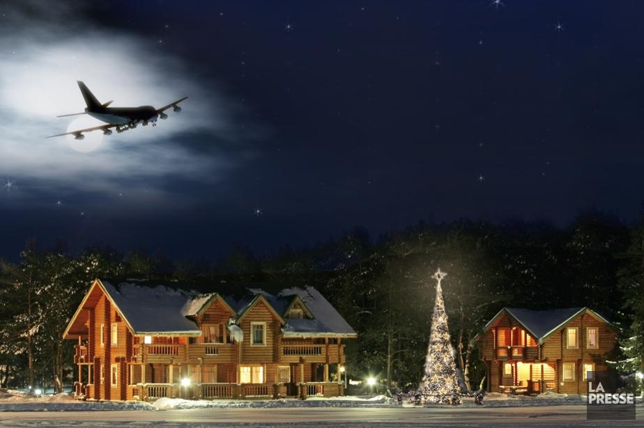 À l'approche de Noël, nombreux sont ceux qui tentent... (Photomontage La Presse)