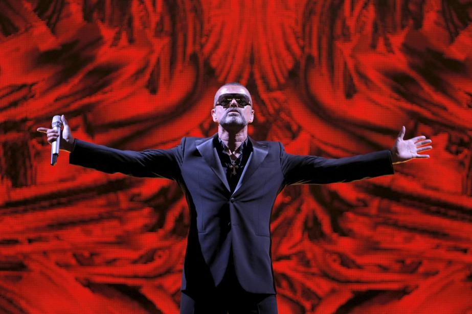George Michael lors d'un concert pour la lutte... (Photo archives AP)