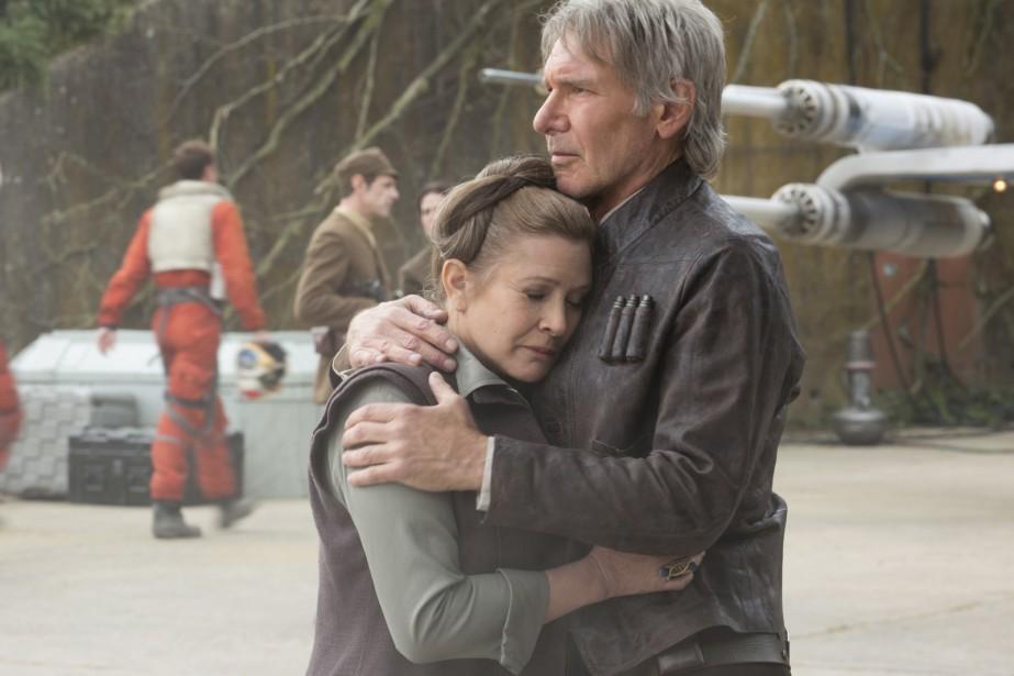 Carrie Fisher et Harrison Ford réunis pour St<em>ar Wars: The Force Awakens</em> ()