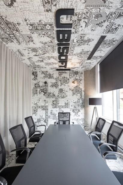 Cette salle de conférences invite à la neutralité grâce à ses différentes teintes de gris. (Fournie par Ubisoft, Jonathan Robert)