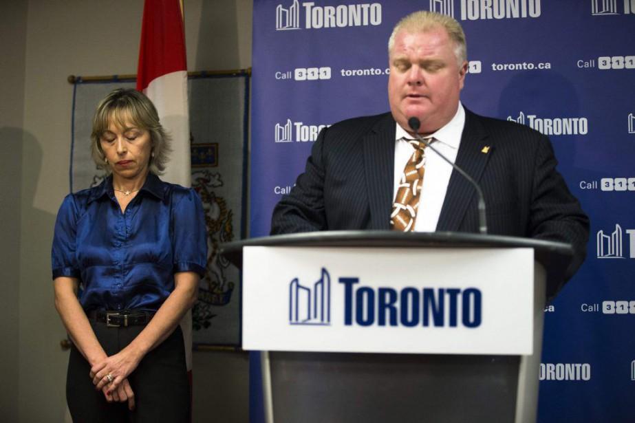 L'ancien maire de Toronto Rob Ford et sa... (PHOTO MARK BLINCH, ARCHIVES LA PRESSE CANADIENNE)