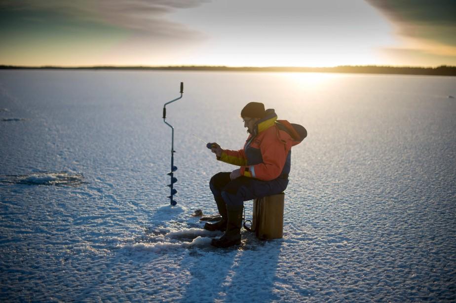 La pêche dhiver kamskoe lembouchure tatarstan