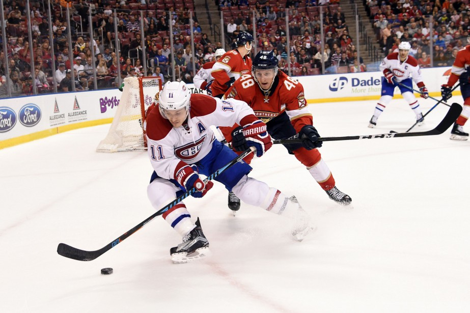 Brendan Gallagher et Michael Sgarbossa... (Photo Steve Mitchell, USA TODAY Sports)