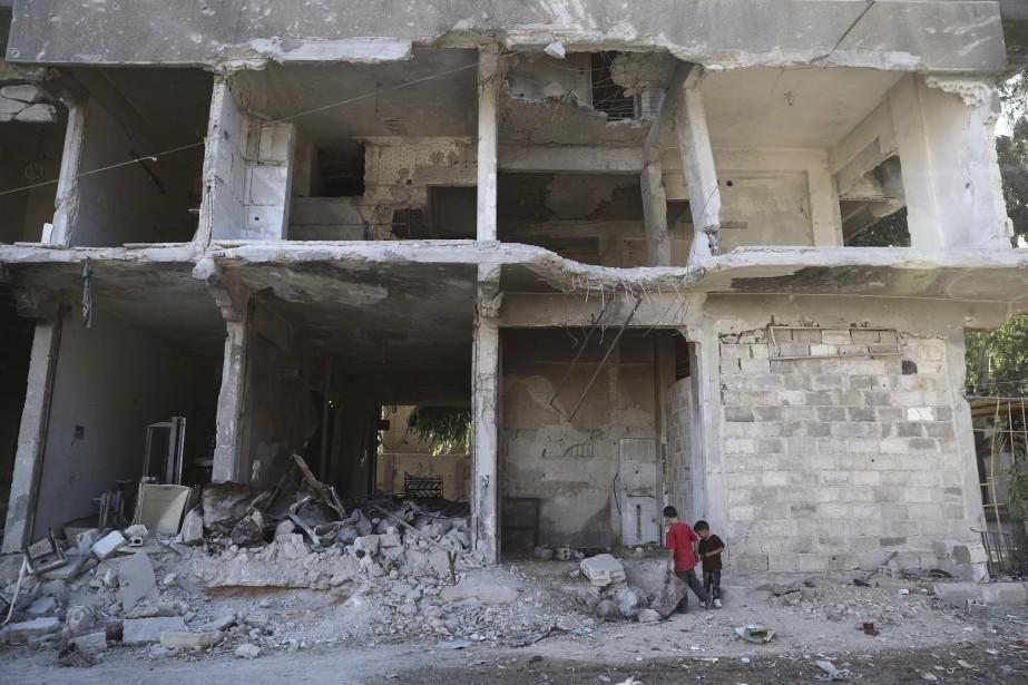 Selon l'ONU, quatre millions de personnes à Damas... (Photo Abd Doumany, Archives AFP)