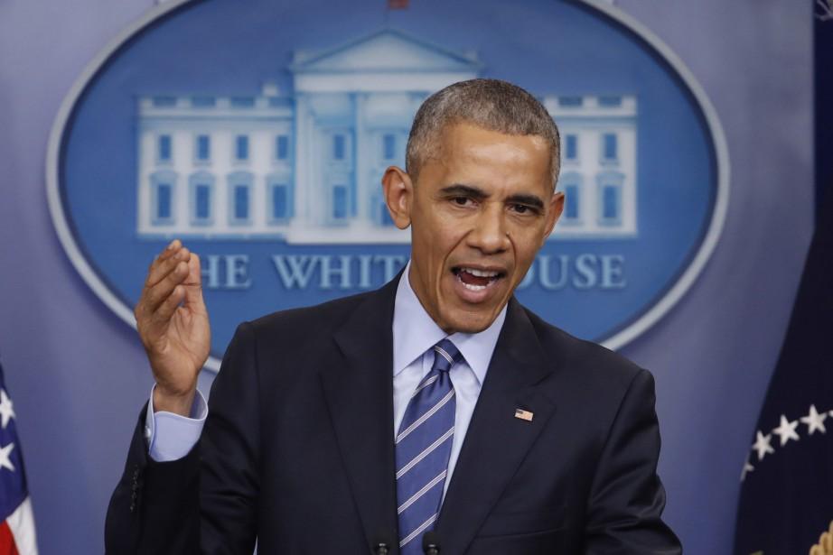 Barack Obama... (PHOTO Pablo Martinez Monsivais, AP)