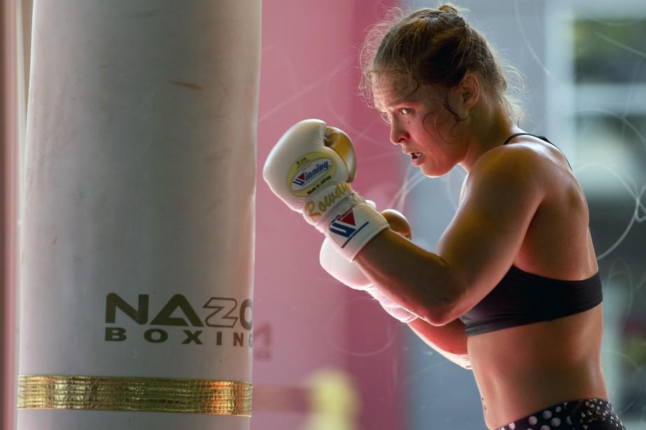 Ronda Rousey a obtenu ce montant garanti même... (Photo archives AP)