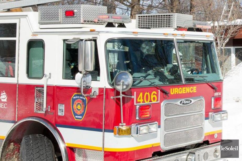 Les pompiers de Québec ont dû procéder à un sauvetage... (Photothèque Le Soleil)