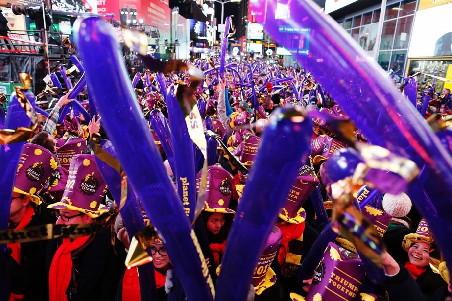 Près d'un million de personnes ont célébré l'entrée... (EDUARDO MUNOZ ALVAREZ, AFP)