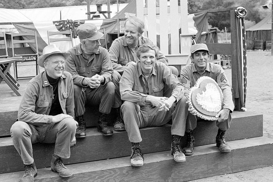 William Christopher (à gauche) en compagnie de ses... (Wally Fong, AP)