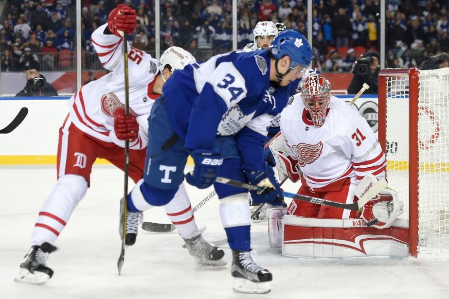 À son premier match extérieur, le hockeyeur... (Photo USA Today Sports)