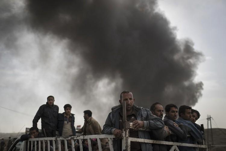 La coalition a détruit 134 de ces camions... (ARCHIVES AP)