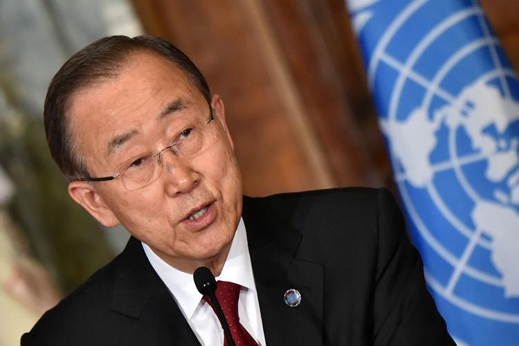 L'ancien secrétaire général des Nations unies, Ban Ki-moon.... (PHOTO AFP)