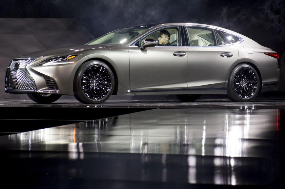 La Lexus LS 500. (AFP)