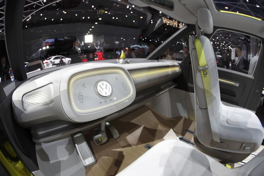 L'intérieur du prototpe Volkswagen I.D. Buzz. (REUTERS)