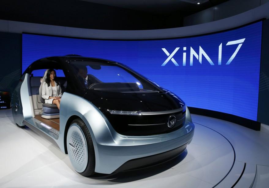 Le sous-traitant chinois Yanfeng Automotive Interiors a montré son prototype XIM 17 à Détroit. (REUTERS)