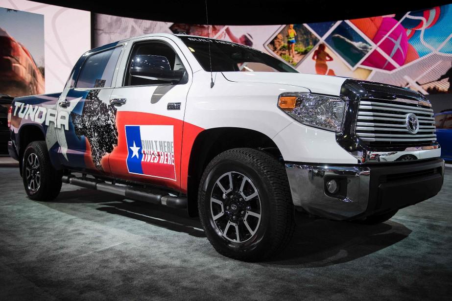 Toyota fait de gros efforts pour présenter son gros pick-up Tundra comme un véhicule américain. (AFP)