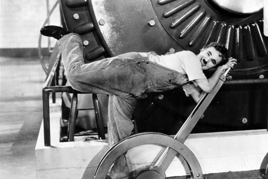 Charlie Chaplin dans Les temps modernes... (Photo fournie par United Artists, Archives La Presse)