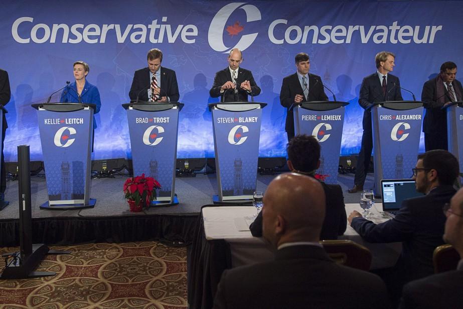 Une partie des candidats à la direction du... (Photo Andrew Vaughan, archives La Presse Canadienne)