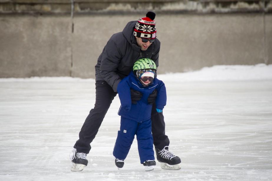 La patinoire du canal Rideau est un bon endroit pour apprendre à patiner... | 15 janvier 2017
